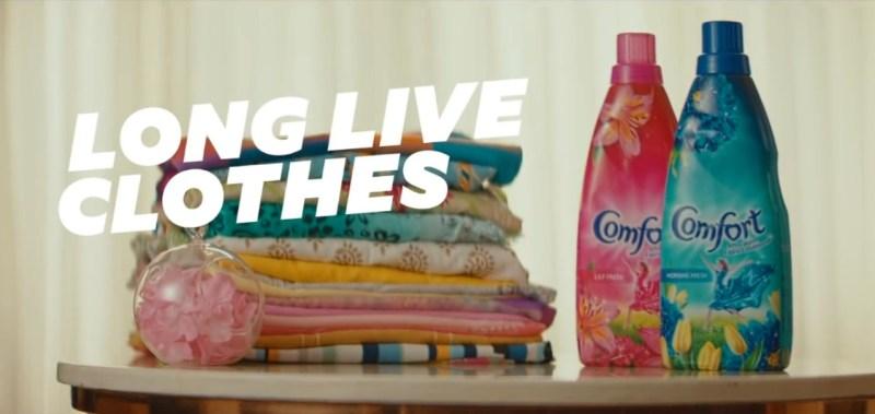 Comfort fabric conditioner creates unique advertising campaign.