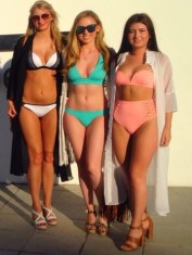 Our looks for Ocean Beach pool party