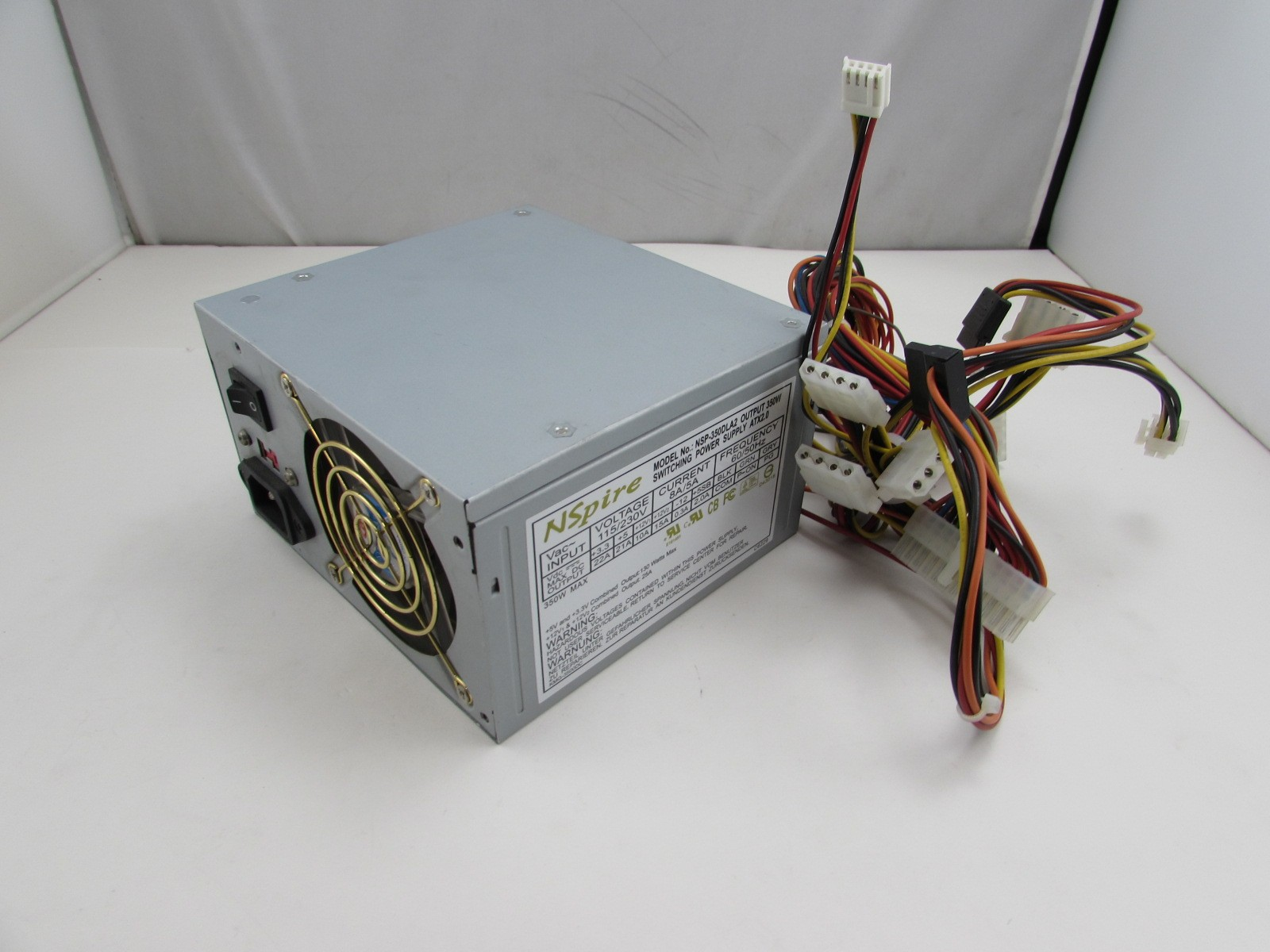 hight resolution of details about nsprire nsp 350dla2 350w 350 watts 24 pin atx 12v switching power supply psu
