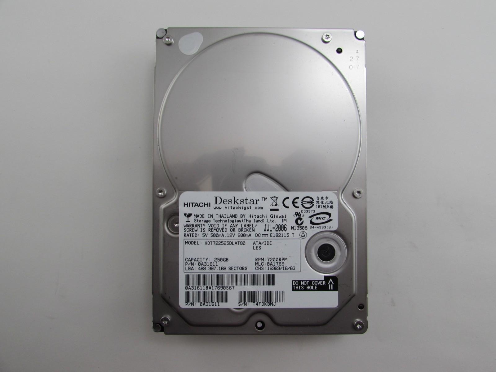 Hitachi HDT DLAT80 250GB 7200 RPM IDE Hard Drive