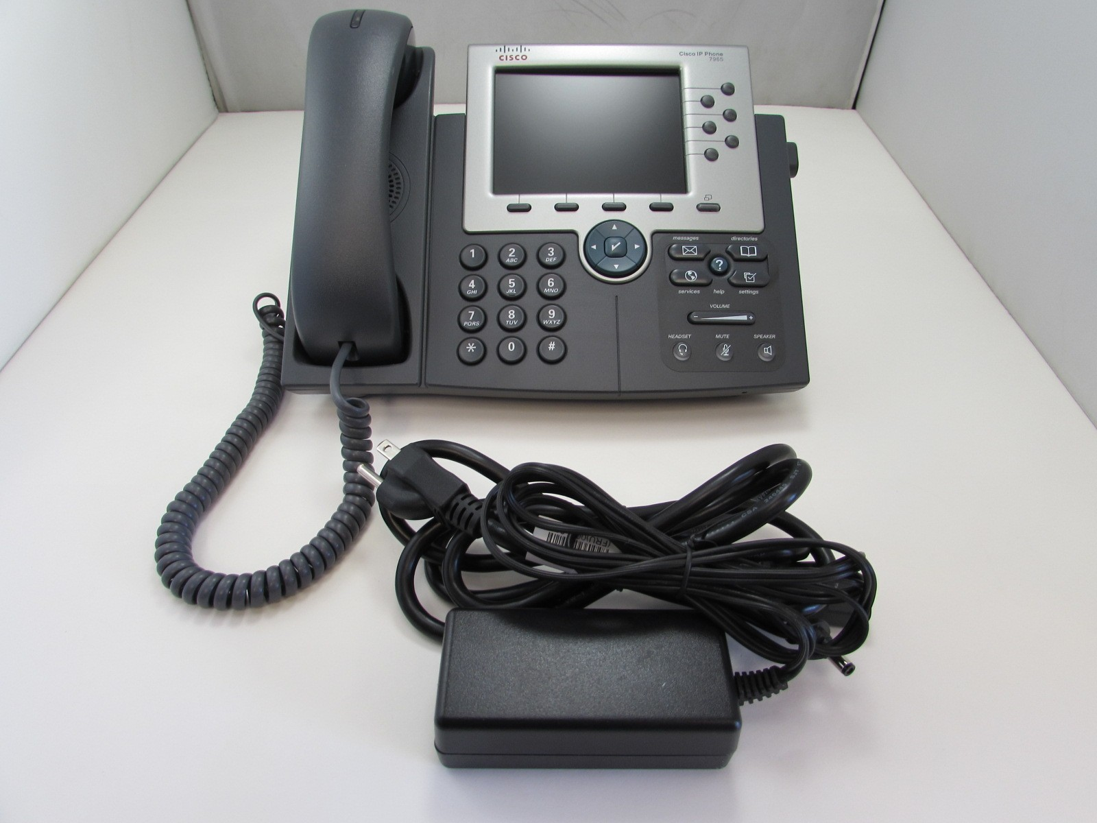 Cisco CP-7965G Unified IP Phone SIP SCCP Telephone + Handset + AC Adapter -  The620Guy com
