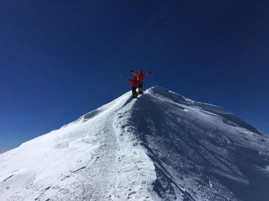Returning from summit Elbrus