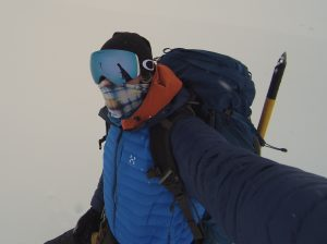 Ice on my nose while climbing!