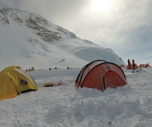 Camp at 4200m. On your right is the Nigor Spix, which was my home during the expedition