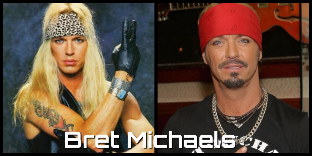 bret michaels then and now
