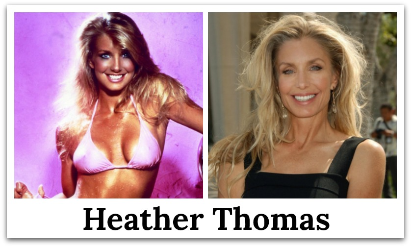 heather thomas then and now