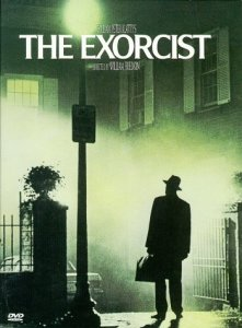 The Exorcist Poster with the iconic image of Father Merrin standing under the street light