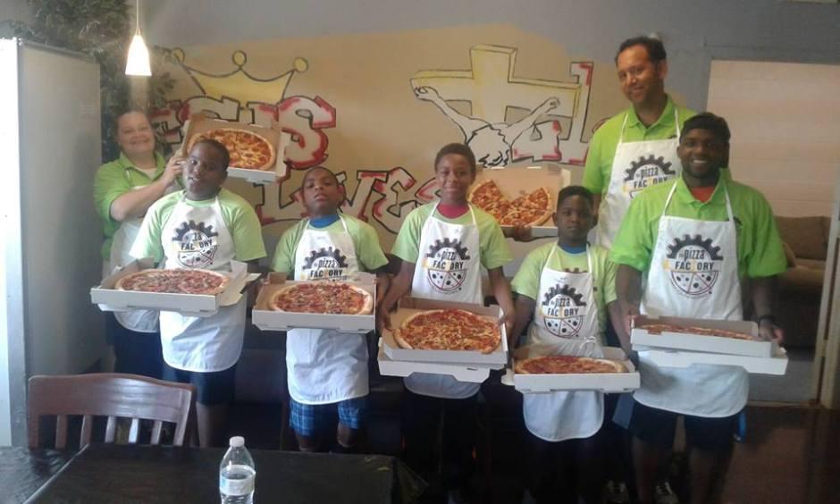 Brad & Mr T Pizza Team