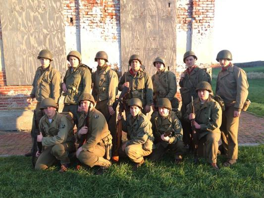The 94th poses for a picture at Fort Mifflin in 2015. Credit: Melanie Krahling.