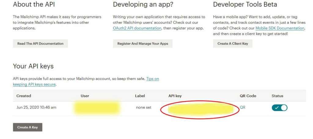 créer un compte Mailchimp