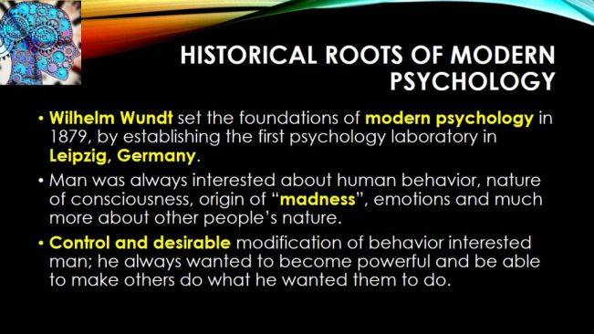 BBA-104 Intoduction to Psychology - Lecture3 History