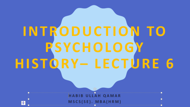 BBA 104 psychology study material and course outline,