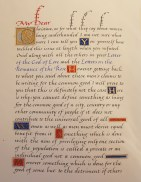The Abbey Studio, calligraphy, lettering, manuscripts, illuminating, gold, gilding