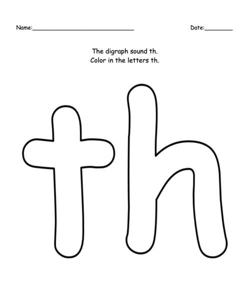 small resolution of Digraphs Worksheets – ABC Club.org