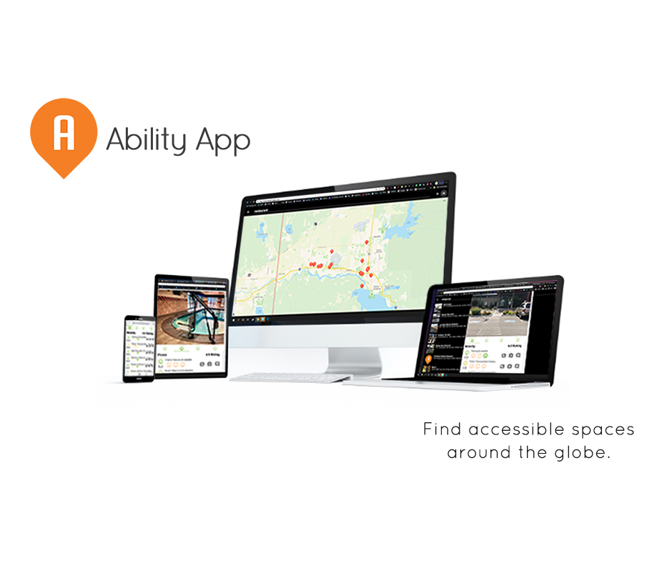 ability app, mobile device, find accessible spaces around the globe
