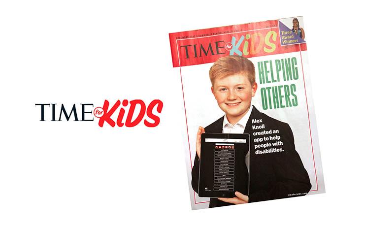 Alex Knoll, Time For Kids Alex Knoll, Magazine Cover Alex Knoll, Magazine Cover Time For Kids Alex Knoll, Magazine Cover Time For Kids Ability App