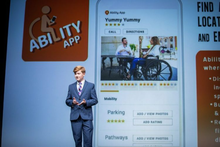 Photo of Ability App founder, Alex Knoll, Age 14