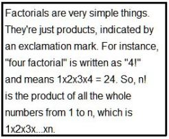 Factorial Definiion