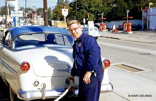Me pumping gas 1954