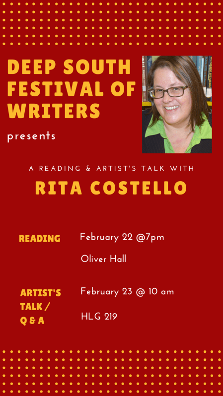 Deep South Festival of Writers with Rita Costello