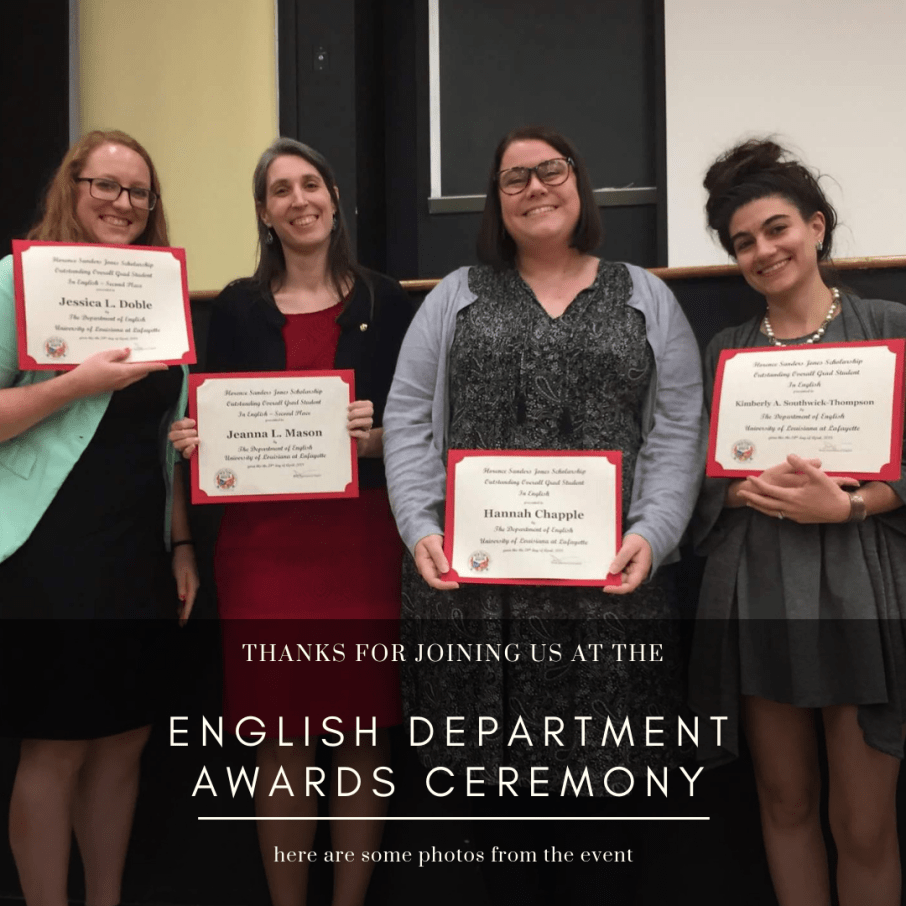 UL English Department 2018 Awards Ceremony