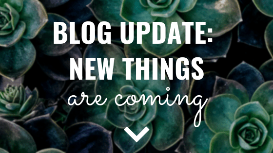 Blog Update New Things