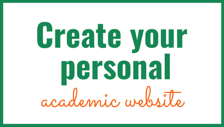 Create your Personal academic website