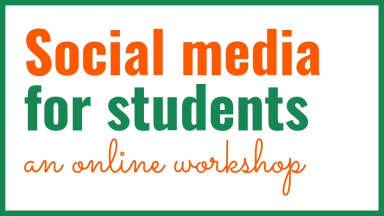 Social media for students: an online workshop