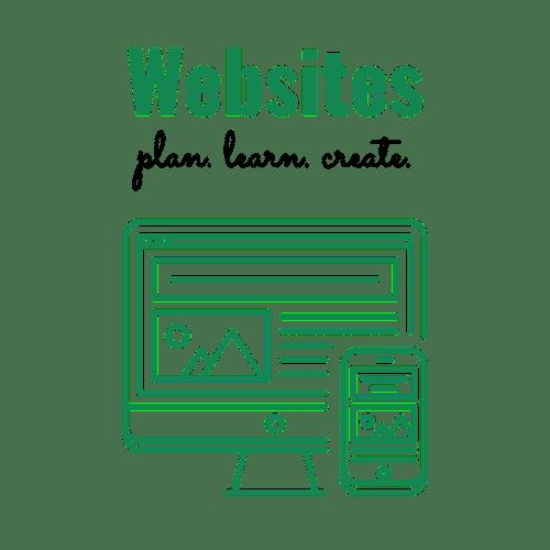 Websites: plan. learn. create.