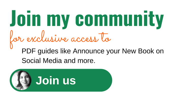 Join my community for PDF guides like announce your new book on social media and more