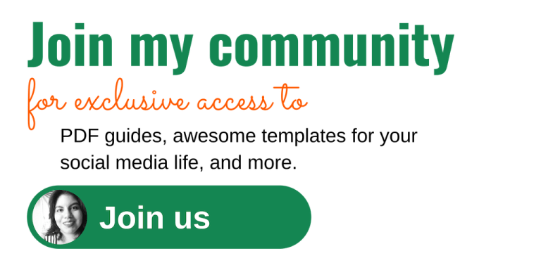 Join my community for exclusive access to PDF guides, social media templates, and more
