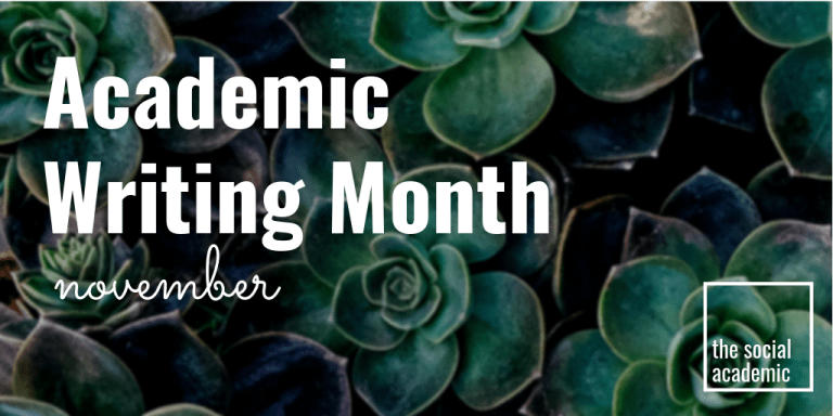 Academic Writing Month November