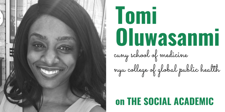 Tomi Oluwasanmi of CUNY School of Medicine and NYU College of Global and Public Health on The Social Academic