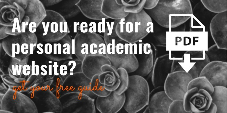 Are you ready for a personal academic website? Get your free PDF guide