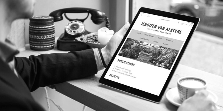 Personal academic website example