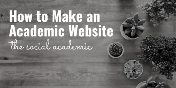 How to Make an Academic Website on The Social Academic