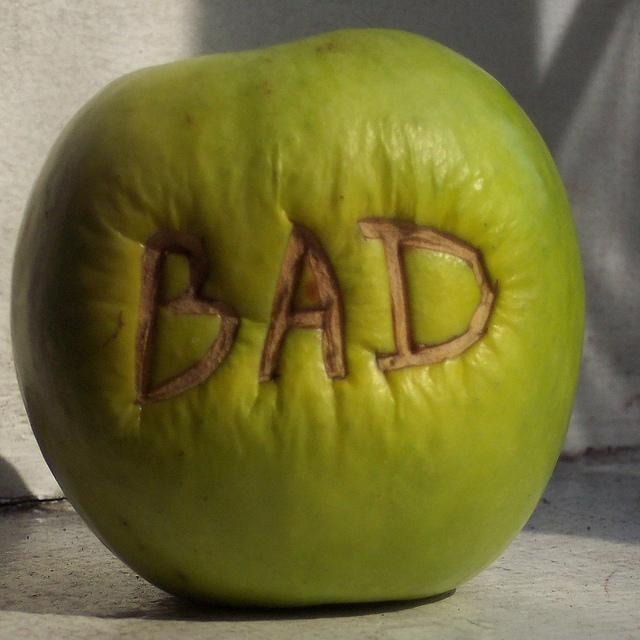 As negotiators, sometimes we get handed a bad apple