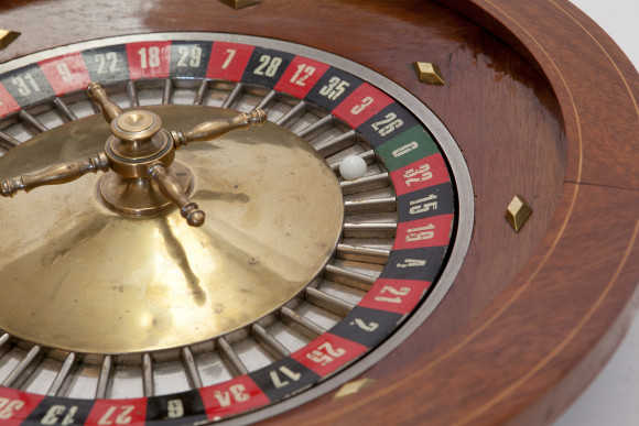 Ace of Space - Scot Meacham Wood Home - Vintage Roulette Wheel (1)