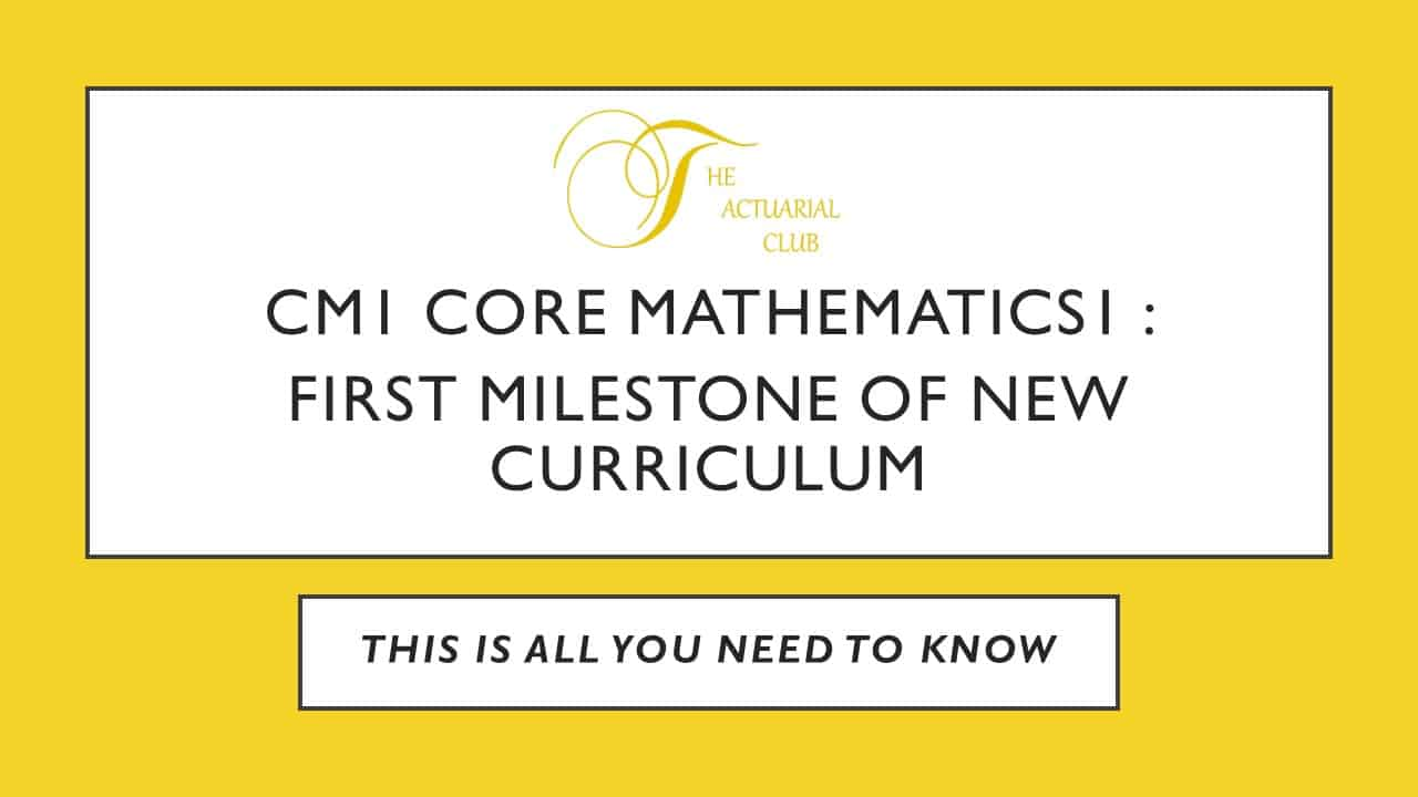 CM1 Core Mathematics 1: First Milestone of New Curriculum