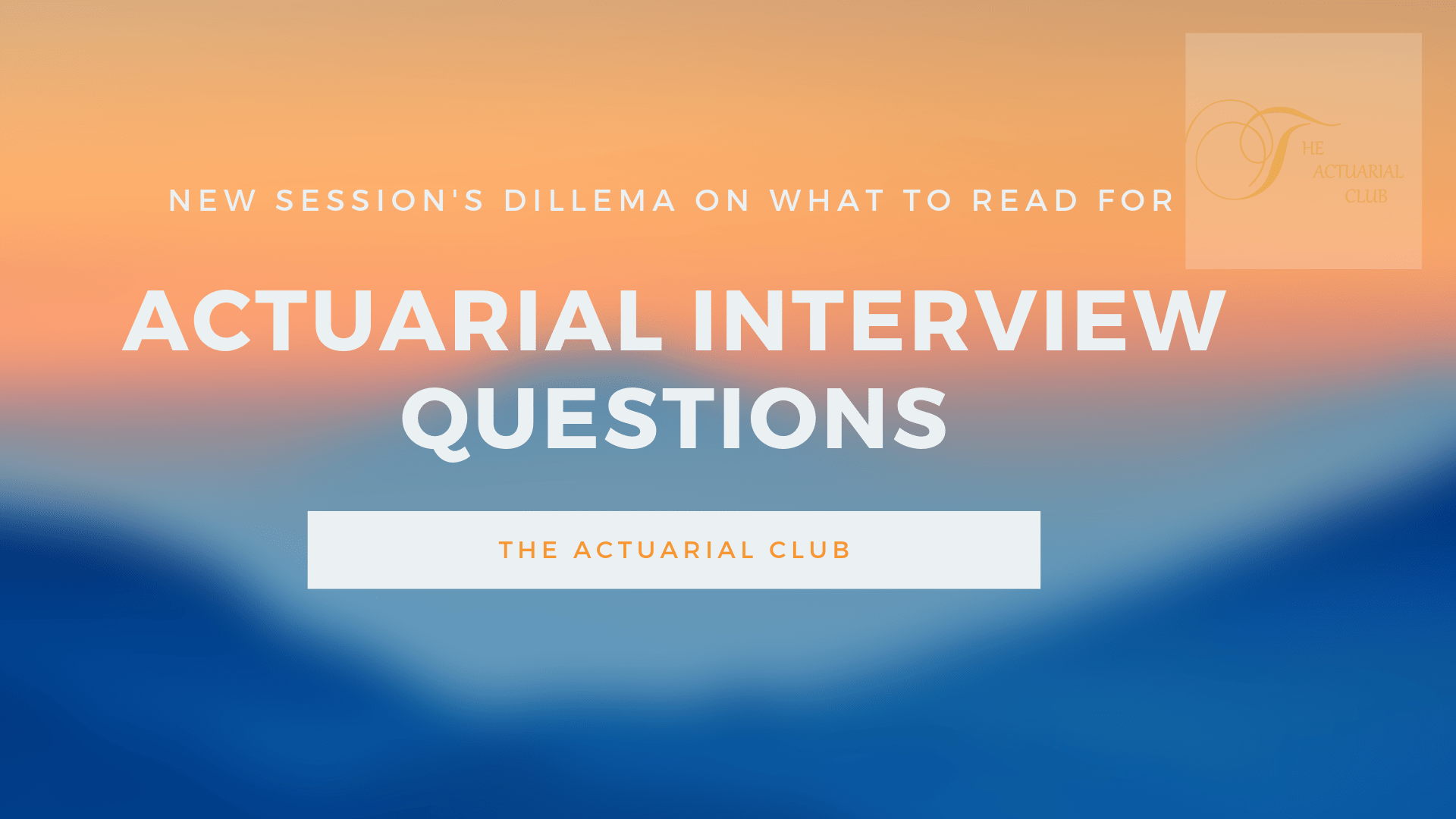 Actuarial Interview Questions for GI and LI