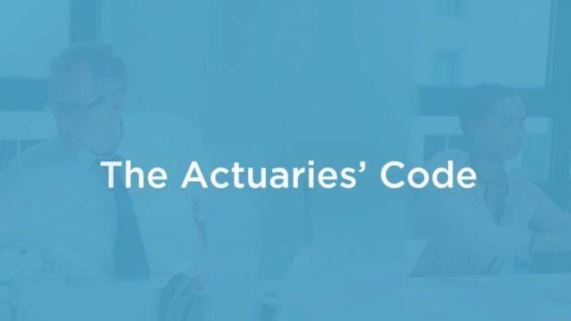 The Actuaries' code