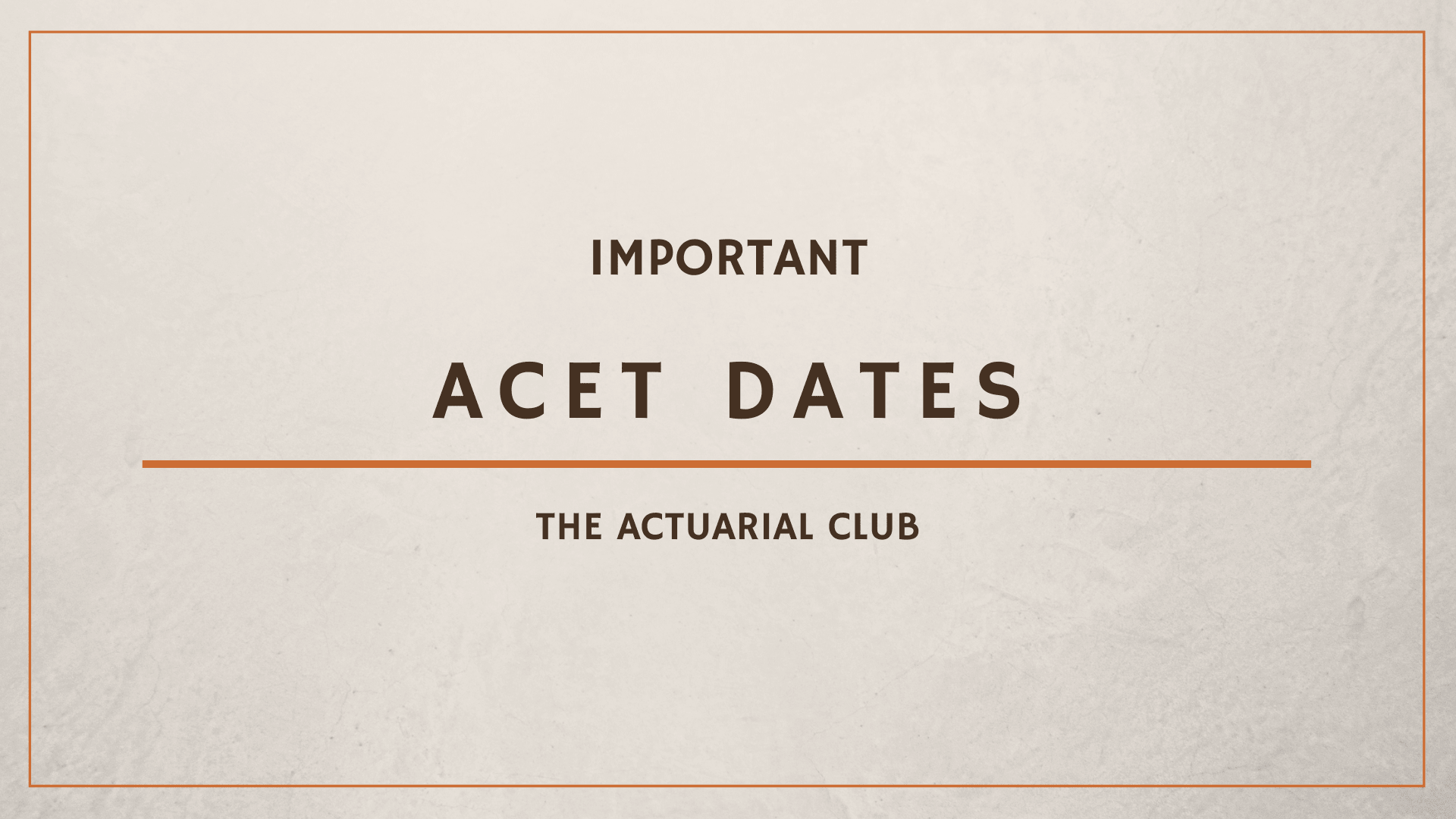Registrations for Actuarial Common Entrance Test (ACET) begin at Institute of Actuaries of India (IAI)