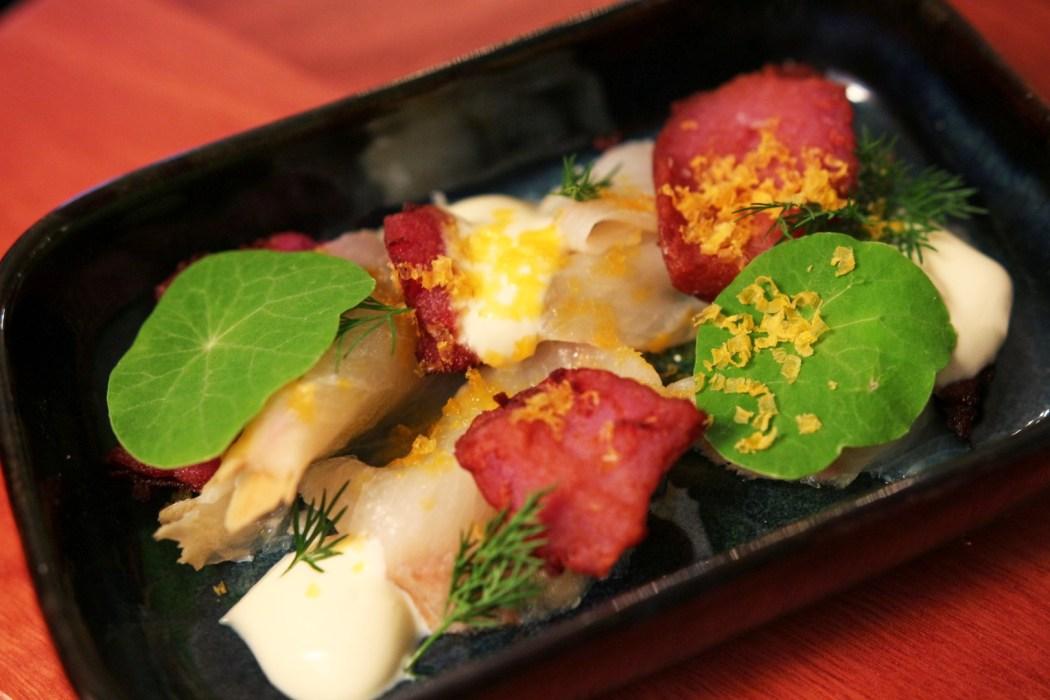 Kingfish sashimi at The Henry Austin