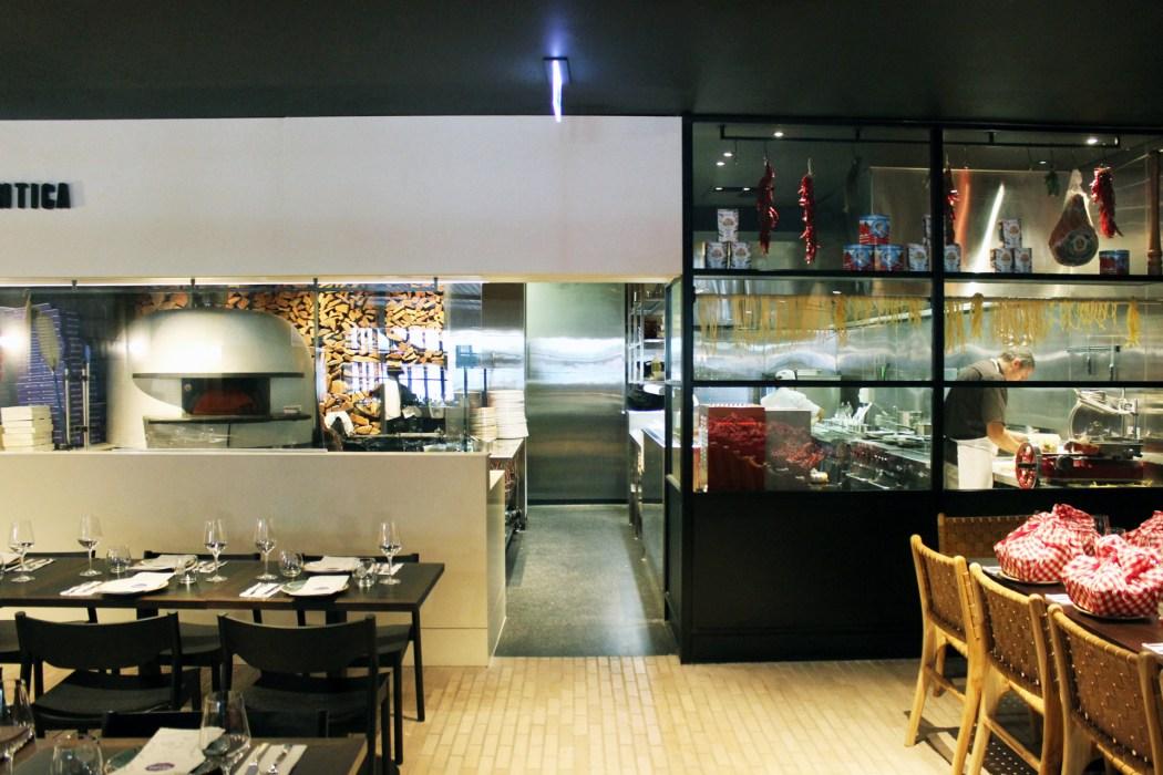 Antica's open kitchen