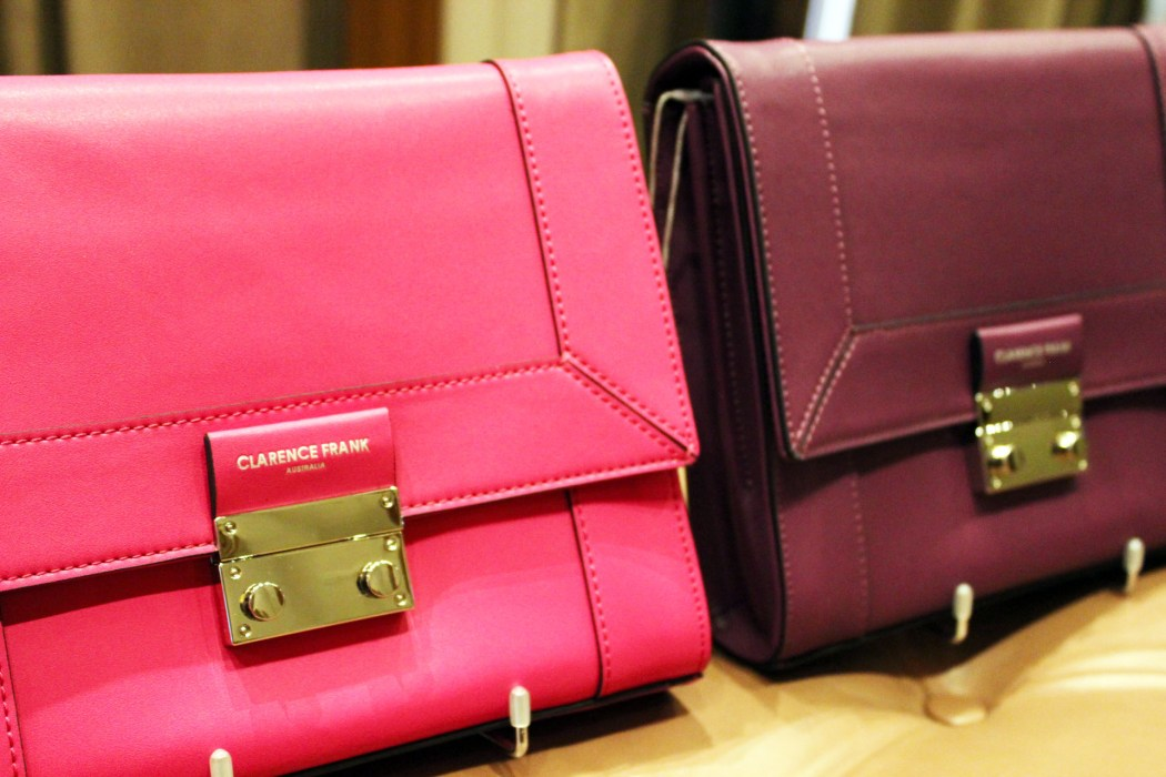 Add a pop of colour to your outfit with these Clarence Frank bags!