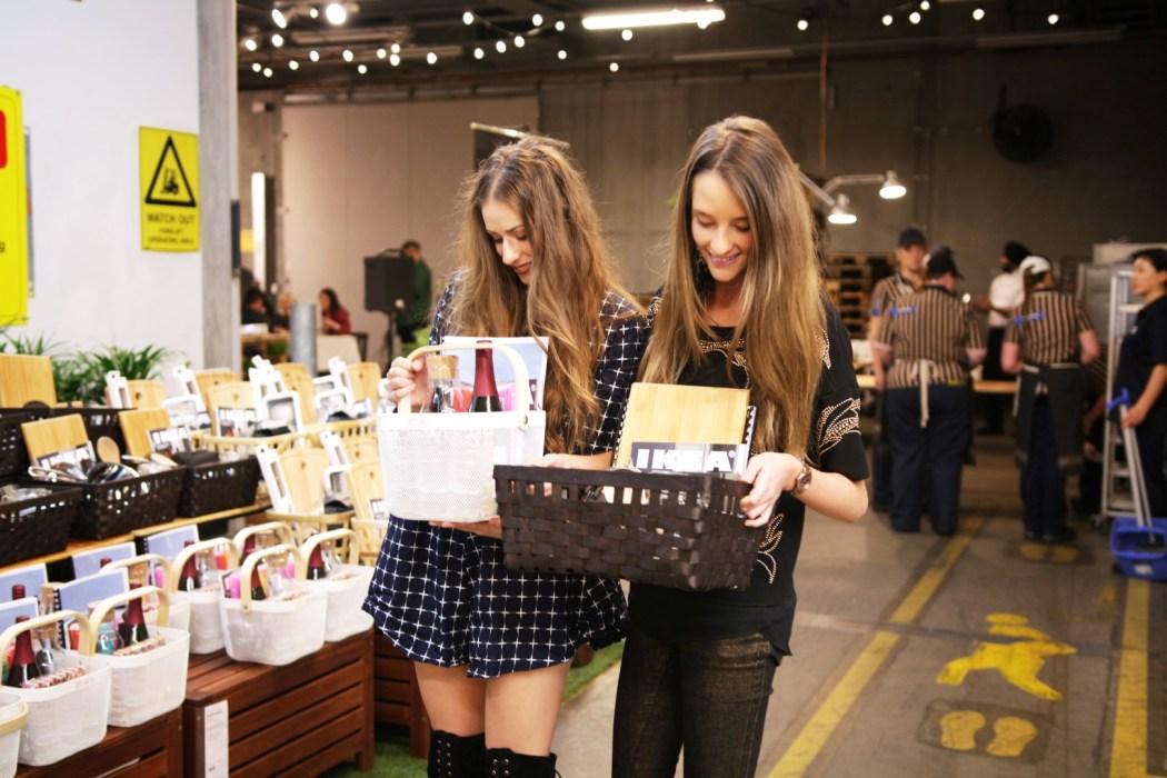Inside the loading dock for the IKEA new catalogue launch. Melissa Zahorujko and Gemma Easton