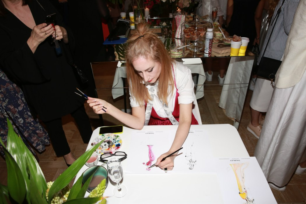 The Bespoke Illustrator live in action at the brunch