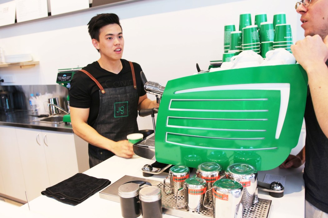 Jack Greens serving up salads and coffees at the official launch of the James Place eatery