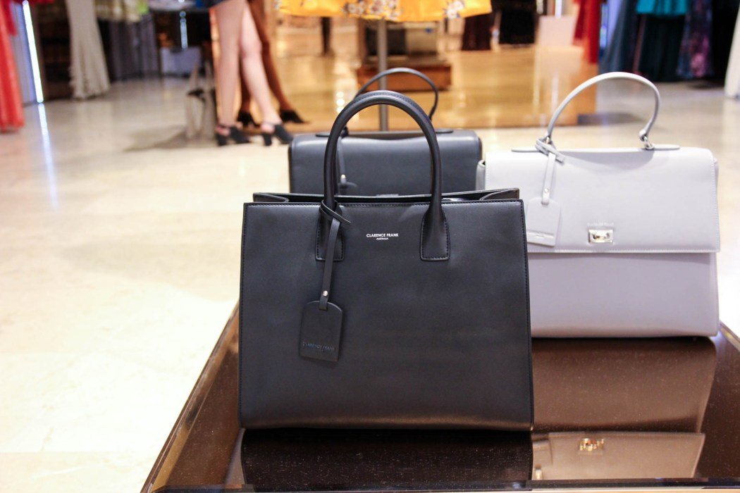 Larger Clarence Frank totes at the Rundle Place pop-up