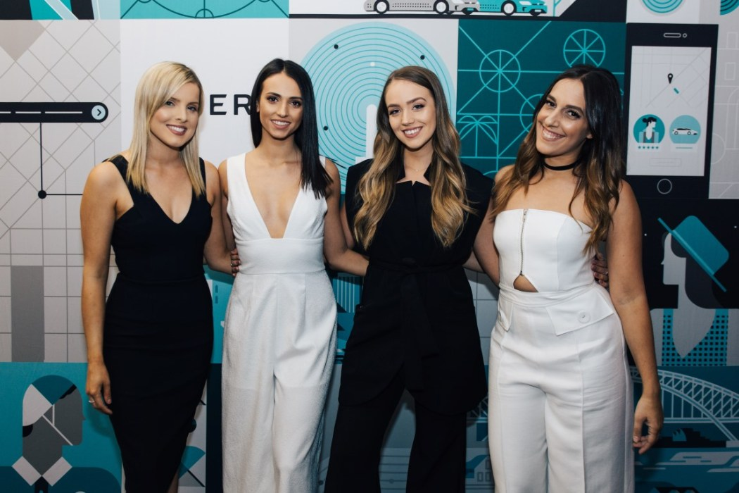 The GAT girls helping Uber celebrate the opening of their brand new office space
